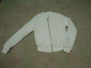 Tags white W Off sweatercoat New Womens Junior jakke Aeropostale lynlås xvzgg1