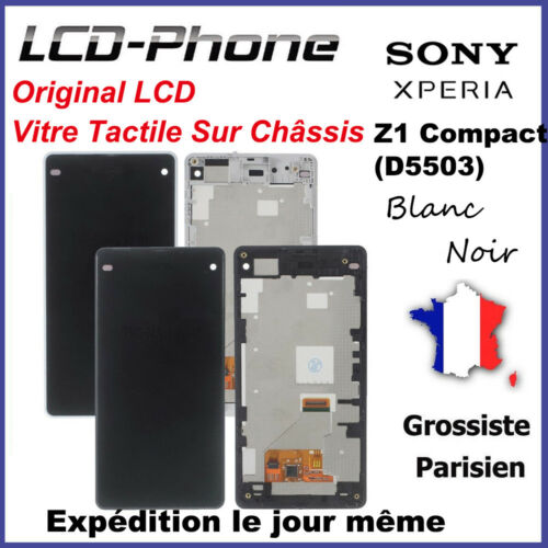 Ecran Sony Xperia Z1 Compact (D5503) LCD +Vitre Tactile Sur Chassis