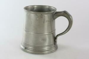 ANTIQUE-18th-Century-SMALL-PEWTER-MUG-Marked