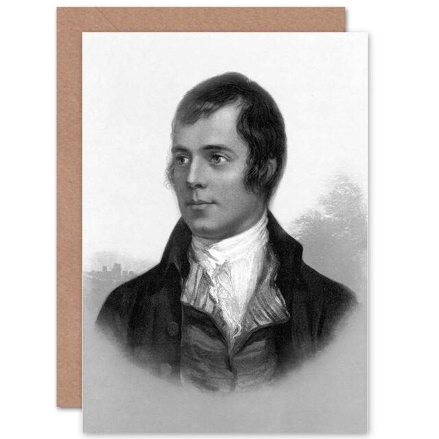 PORTRAIT OF ROBERT BURNS AYR SCOTLAND OLD BW PHOTO PRINT POSTER ART 1598BW
