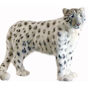 Hansa Standing Snow Leopard Realistic Soft Animal Plush Toy 122cm L