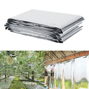 210x120cm Pflanze Reflektionsfolie für Garten Gewächshaus Growbox wachsen Silber