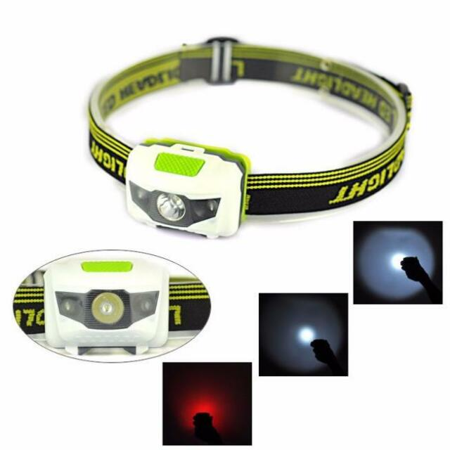 R3 Super Bright 300LM 2LED Mini Headlight Headlamp Flashlight Torch Lamp Lights