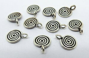 925-Sterling-Silver-Beads-Charm-Pendant-Bali-Silver-Beads-Charms-10-Pieces