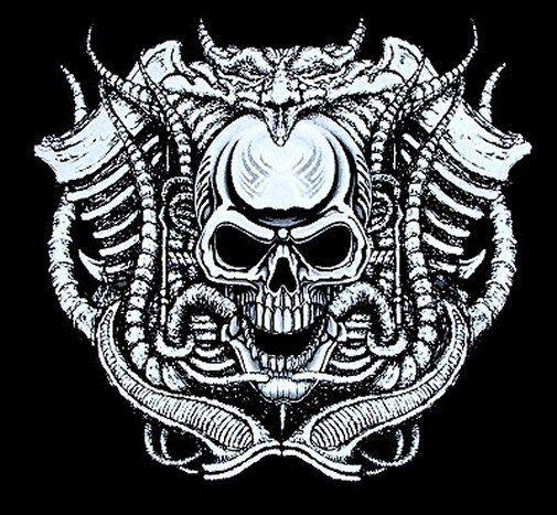SKULL DEVIL EVIL DEMON SATAN LUCIFER RAM HORNS GOTHIC SWEATSHIRT WS7