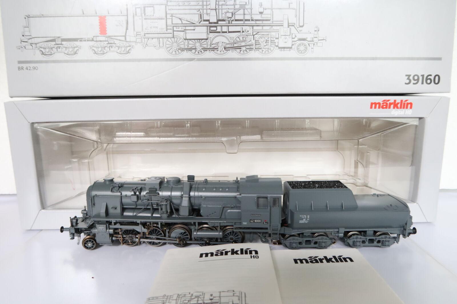 Digital Märklin HO AC 39160 a vapore Lok Franco Crosti BR 42 9000 DB (dh 13-99r3 1)