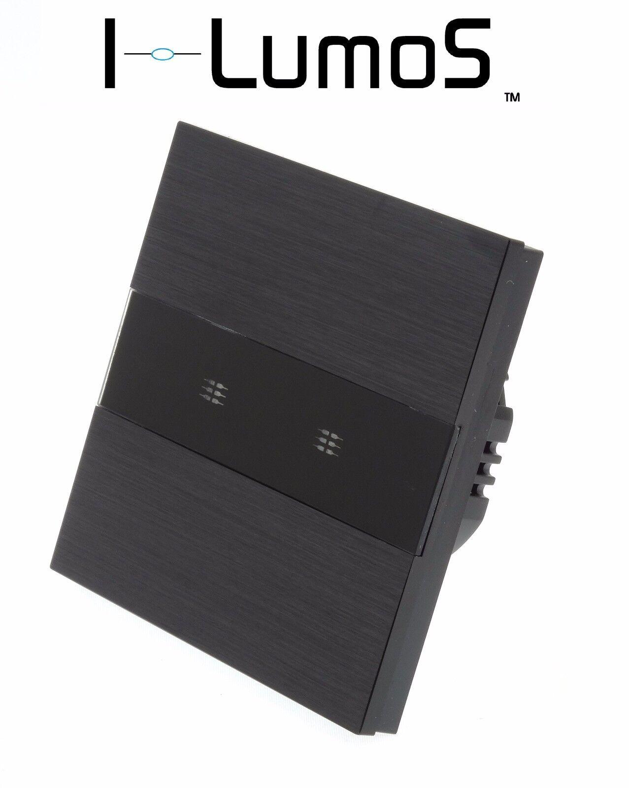 I LumoS in alluminio spazzolato Nero Pannello Pannello Pannello Touch Remote LED Dimmer interruttori della luce 5f9100