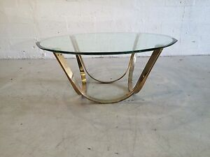 Image Is Loading Tri Mark Coffee Table With Glass Karl Springer
