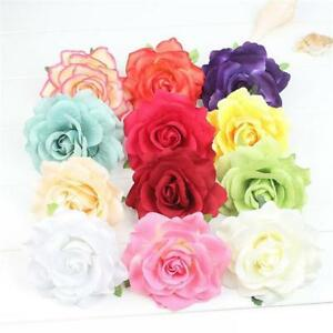 Fashion Fabric Rose Flower Large Hair Clamp Claw Clip Girl Accessories HC