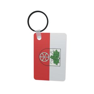 Schlüsselanhänger Flagge Fahne Radebeul Alu 40 x 57 mm