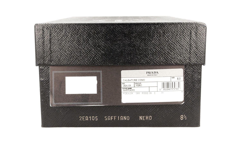 SCARPE PRADA SAFFIANO LUSSO 2EA105 NERO NUOVE 42,5 8,5 42,5 NUOVE 43 36f150