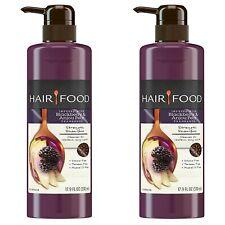 2x Hair Food Strength Shampoo Blackberry & Anjou PEAR Fragrance 17.9 Oz