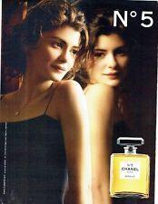 PUBLICITE ADVERTISING 126  2011  Chanel parfum n° 5  avec Audrey Tautou