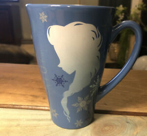 Disney Store Frozen Cup Elsa & Anna Silhouette Keep Calm & Let It Go New Mug