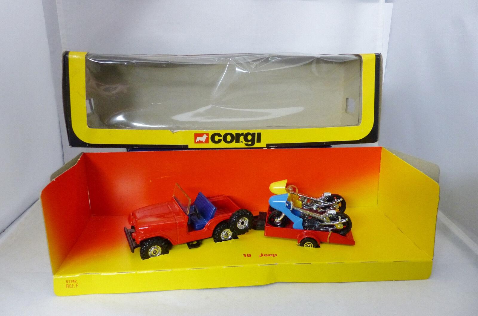 Corgi Toys  Set 10 Coffret Jeep et remorque Motos Near Mint B ( A18)
