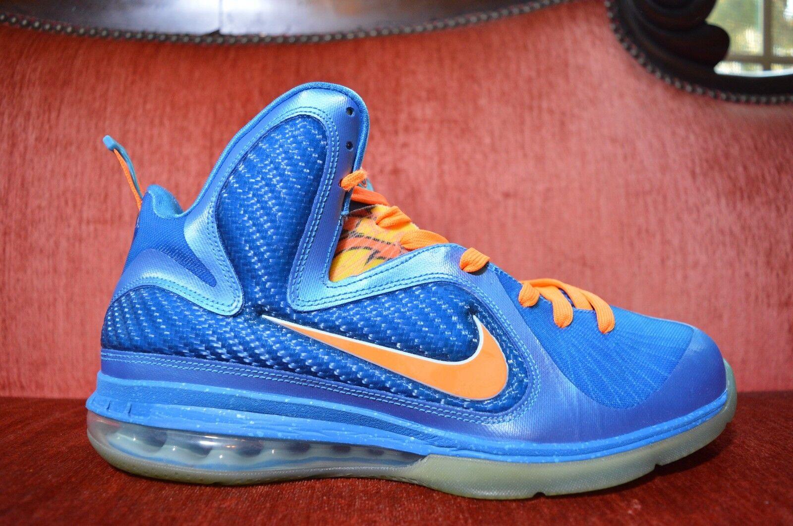 Clean Nike Lebron 9 IX China US Men Size 11 469764 800 Blue Orange OG ALL