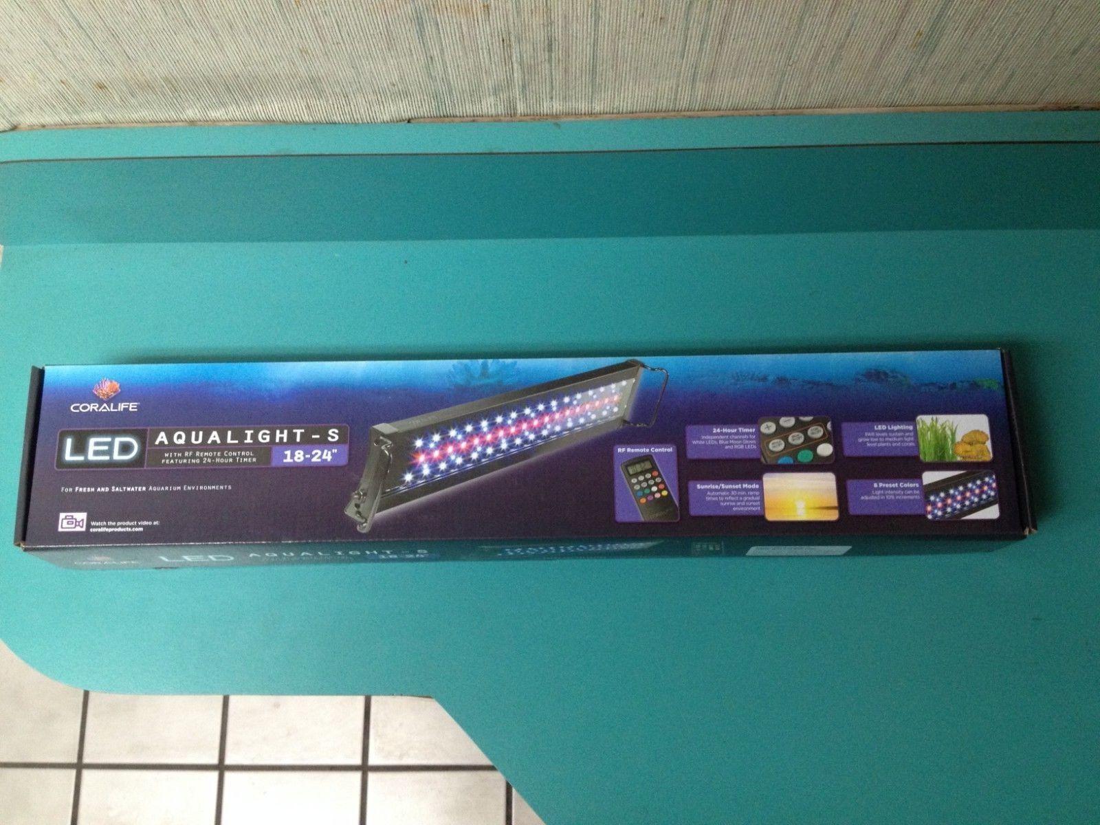 Coralife AquaLight-S LED Aquarium Light Fixture, 18 -24