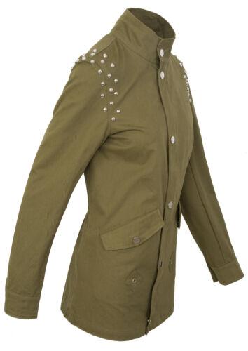 Damen Übergangsjacke Herbst Parka Fleece Sweatjacke Mantel D-314 NEU S-XL