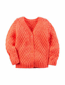08356e4867 NWT  34 Girl s Carters Chunky V-Neck Cable Knit Cardigan Sweater ...