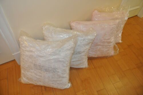 White or Pink! Simply Shabby Chic Embroidered Large Decorative Pillow lot of 2
