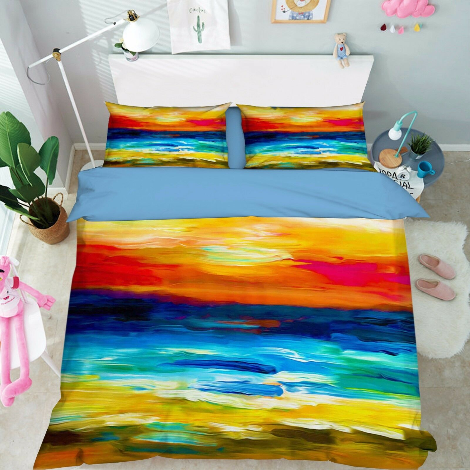 3D Sunset Sky 806 Bed Pillowcases Quilt Duvet Cover Set Single Queen UK Summer