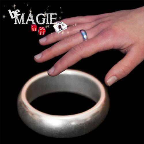 Taille M Tour de magie PK Ring 20 mm Bague aimantée Argent