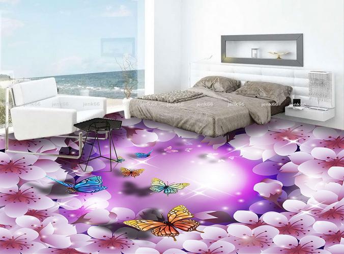 3D Flower Butterfly 133 Floor Wall Paper Wall Print Decal Wall Deco AJ WALLPAPER