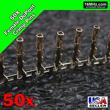 50x Dupont Jumper Wire Female Crimp Pin Header Connectors Us Seller 50pcs Q01