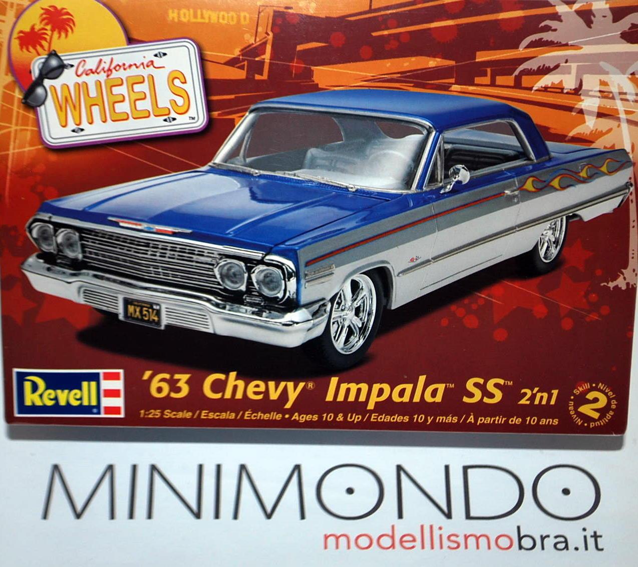 KIT 1963 CHEVY IMPALA SS 2 IN 1  25 REVEL MONOGRAM 4278 04278
