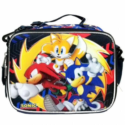"""Crayola Set Lunch Bag New Sonic the Hedgehog 16/"""" Full Size Backpack"""