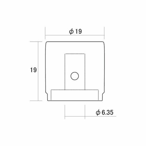 "NEW CHROME BRASS Flat Barrel Knobs for Bass /& Guitar 6.35mm ID 1//4/"" USA 2"