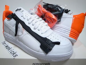 Details about 2015 NIKE LUNAR FORCE 1 SP ACRONYM WHITEWHITE BRIGHT CRIMSON 698699 116 sz 13