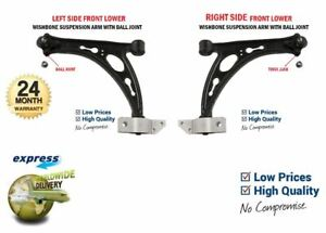 2x Front WISHBONE SUSPENSION ARMS for VW TOURAN 2.0 TDI 2005-2010