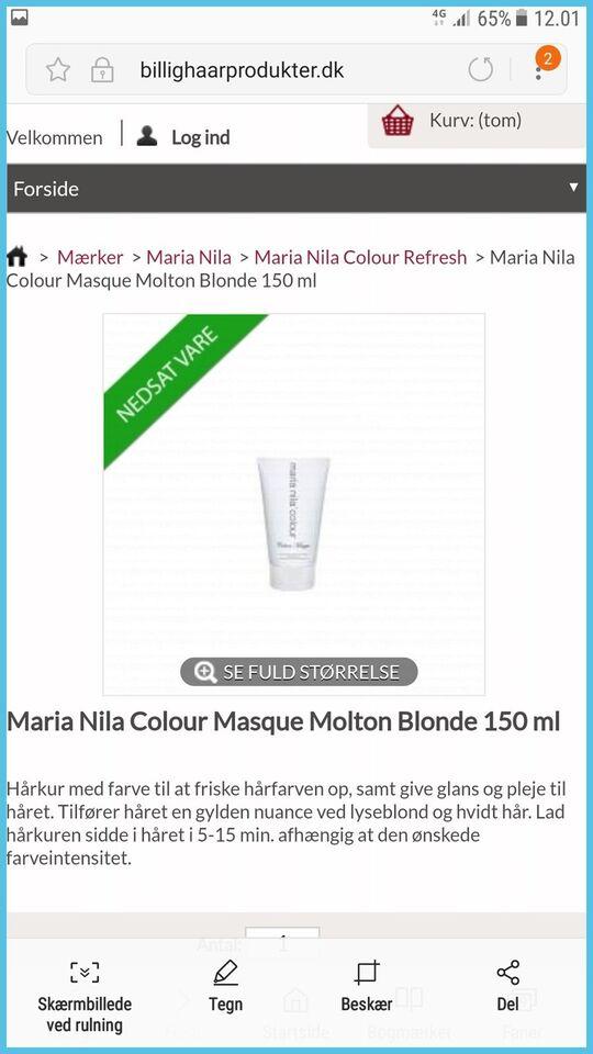 Hårpleje og tilbehør, Hårkur/colour masque, Maria Nila