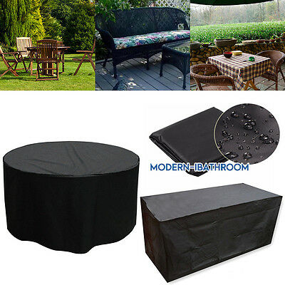 Large Rattan Round Garden Furniture Outdoor Rain Cover Waterproof Garden Shelter