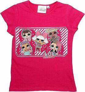 Lol Surprise Filles Aller Taches Et Rayures à Manches Courtes Paillettes T Shirt-afficher Le Titre D'origine RéTréCissable