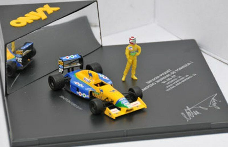ONYX VC0001 Benetton Ford B191 model F1 car & Nelson Piquet driver figure 1 43rd