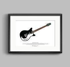 Jimmy Page's Danelectro 3021 ART POSTER A3 size