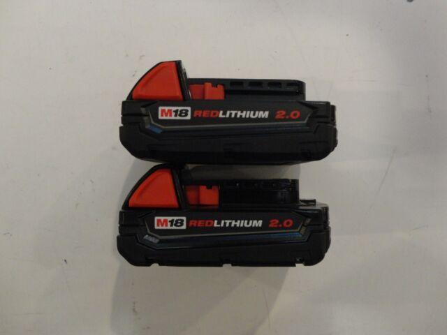 (2) Milwaukee 18V 18 Volt M18 RedLithium Ion 48-11-1820 2.0 AH Battery packs New