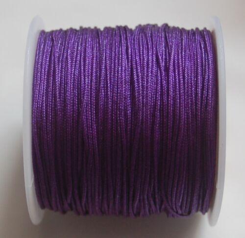 0,06 €//m Nylonfaden 1mm Shamballa Nylon thread Macrame Kumihimo Bastelfaden Cord