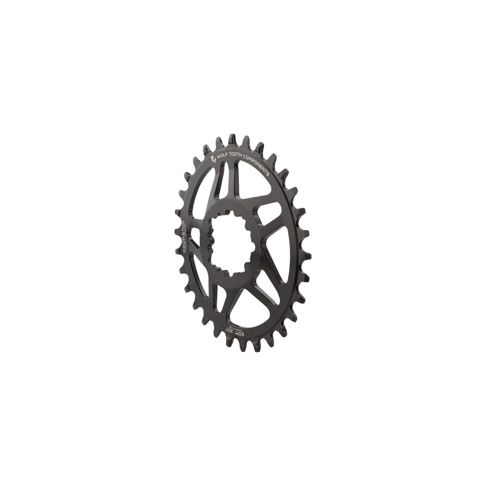 Wolf Tooth Components Drop-Stop PowerTrac DM 32t Chainring BB30 0mm Offset