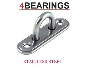 6mm Stainless Steel Pad Eye Deck Oblong Plate