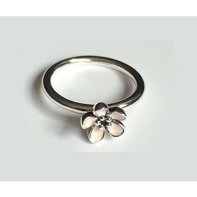 GENUINE PANDORA Silver Pink Cherry Blossom Flower Ring 190879EN40 FREE DELIVERY