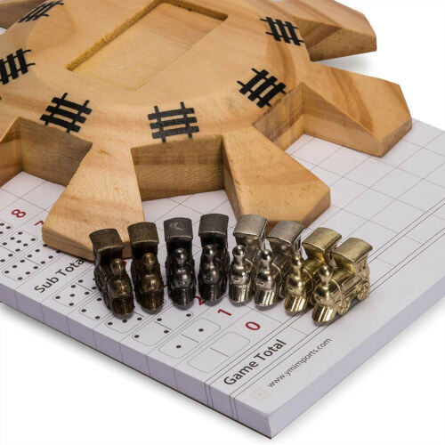 Yellow Mountain Imports Dominoes Accessory Set (Mexican Train Dominoes) - Includ