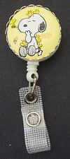 SNOOPY WOODSTOCK Peanuts Retractable Badge Reel/ ID Card Holder/Key Chain Ring