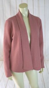 Kasper-Sweater-Blazer-M-New-Pink-Felted-Wool-Open-Front-Unlined