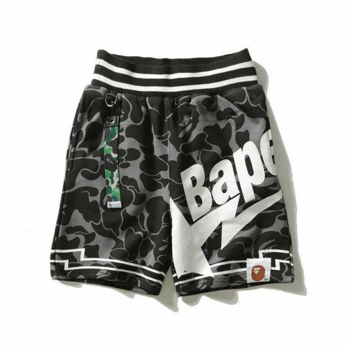 Men/'s BAPE A Bathing Ape Casual Short Pants Camouflage Shorts Summer Beach Pants