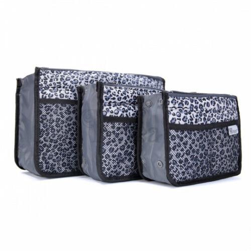 Organizador bolso Periea Chelsy-Plata Leopardo-tamaños pequeñas y medianas-Bnwt