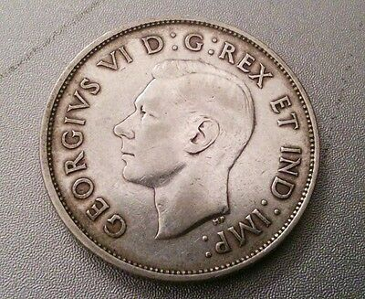 C Mark 1942 Canada Silver Newfoundland Nickel Graded as Very Fine