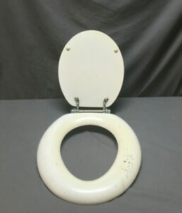 Groovy Details About Vintage Toilet Bowl Seat Cover With Lid Hinge Hardware 400 19L Beatyapartments Chair Design Images Beatyapartmentscom